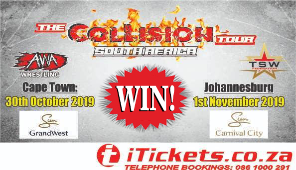 Win your share of R20 000 with the Collision Tour!